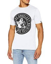 True Religion White Crew Shirt Big Buddha T for men
