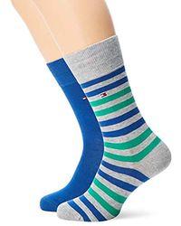 Chaussettes, (lot de 2) Tommy Hilfiger pour homme en coloris Blue