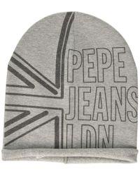 Barry JR Beanie Bonnet Pepe Jeans pour homme en coloris Gray