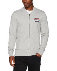 Tommy Hilfiger Gray Basic Logo Zipthru Sweatshirt for men