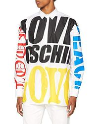Hemd Bluse Chemise Casual Homme Love Moschino pour homme en coloris White