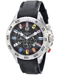 Orologio N16553G da uomo in acciaio INOX con fascia nera di Nautica in Black da Uomo