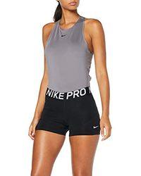 PRO 3-inch, Pantaloncini Sportivi Donna, Nero Black/White 010), 40 (Taglia Produttore: Small) di Nike