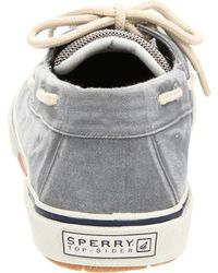 Sperry Top-Sider Gray Halyard 2 Eye Boat Shoes