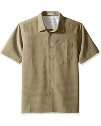 Quiksilver Green Waterman Centinela 4 Button Down Shirt, Kelp, S for men