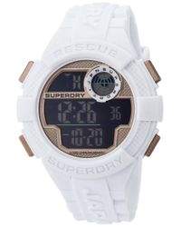 Superdry Multicolor Analogue Quartz Watch With Nylon Strap Syg183be for men