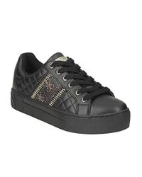Scarpe da Donna Logo Sneakers Bianche di Guess in Black