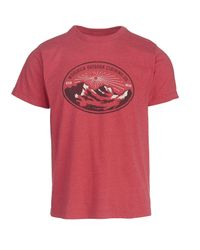 Woolrich Red Hayes Run Heather Graphic Made In Usa Tee for men