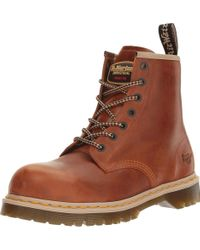 Dr. Martens Brown Icon 7B10 Steel Toe 7 Eye Boots