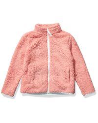 Full-Zip High-Pile Polar Fleece Jacket outerwear-jackets Amazon Essentials de color Purple