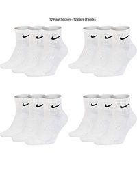 Nike White Socken Weiß Schwarz Kurz Sportsocken Größe 34 36 38 40 42 44 46 48 50 Sparset SX7677 Kombinations Paket