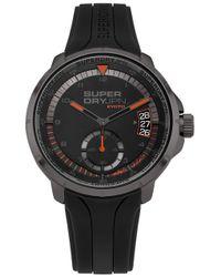 Reloj Analógico para Hombre de Cuarzo con Correa en Silicona SYG217BB Superdry de hombre de color Black