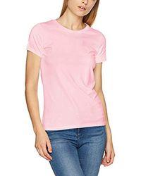 Cott/Ela C-Neck SS T-Shirt Donna di Gant in Pink