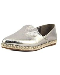 Nine West - Metallic Unrico Leather Ballet Flat - Lyst