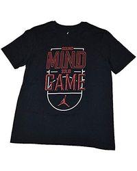 Nike Black Jordan Jumpman Sound Mind Solid Game T-shirt for men