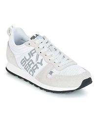 Superdry Streetsport Neon Runner Trainers White/grey Low Top Trainers