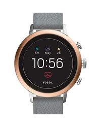 Fossil Black S Smartwatch With Leather Strap Ftw6016
