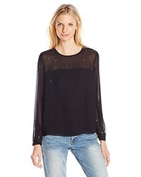 French Connection Black Arctic Spell Top
