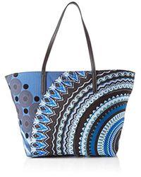 19WAXAAQ, sac bandoulière femme 29.5x12x31 cm (B x H x T) Desigual en coloris Blue