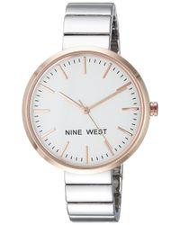 Nine West Metallic Silver-tone Bracelet Watch