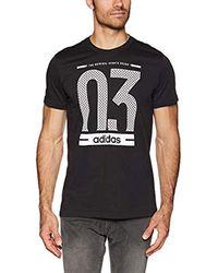 Number 03 m - Maglietta di Adidas in Black da Uomo