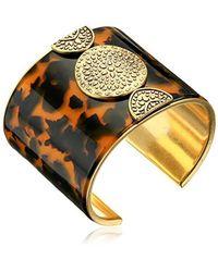 Lucky Brand - Metallic Tortoise Major Cuff Bracelet - Lyst