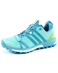 Terrex Agravic W, Chaussures de Randonnée Basses Adidas en coloris Blue