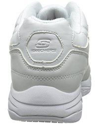 Skechers For Work 76555 Albie Relaxed-fit Walking Shoe White