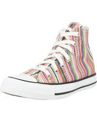 Converse Multicolor Summer Stripes CTAS OX High Top Sneaker 168279C Bunt
