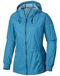 Columbia Blue Proxy Falls Jacket, Water & Wind Resistant