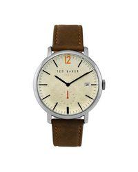 Troy TE50015002 s Watch di Ted Baker in Metallic da Uomo