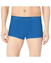 Calvin Klein Blue Micro Modal Trunk for men