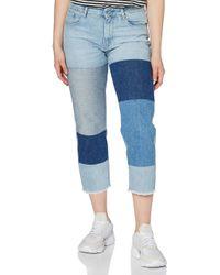 3301 Mid Waist Boyfriend Ripped 7/8-Length Jeans Vaqueros G-Star RAW de color Blue