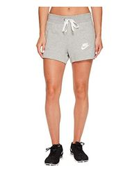 Nike Gray W Nsw Gym Clc Shorts, Grey (dark Grey Heather/sail), S