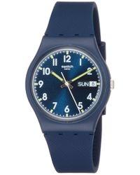 Swatch Gn718 Originals Navy Blue Watch
