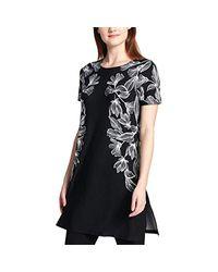 Calvin Klein Black Printed Tunic Shirt Oxford Xs