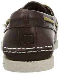 Sperry Top-Sider S A/o 2-eye Burnished Boat Shoe Dark Brown/tan Size 13 M for men