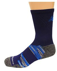 New Balance Blue Cushioned Trail Short Crew Socks, 1 Pair for men