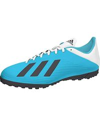 X 19.4 TF, Chaussures de Football Adidas pour homme en coloris Blue