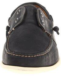 John Varvatos Black Schooner Shoe for men