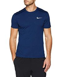 Nike Blue M Nk Cool Miler Top Ss Kniited Tank for men