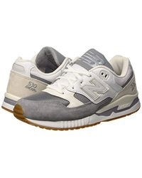 New Balance 530 Lifestyle Suede/Mesh Gymnastikschuhe, Teal/White in Gray für Herren