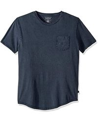 Quiksilver Blue Surf Wash Raw Short Sleeve Knit for men