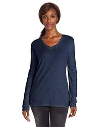 Carhartt Blue Calumet Long Sleeve Vneck T-shirt