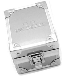 TW Steel ' Grandeur Quartz Stainless Steel And Leather Casual Watch, Color:black (model: Tw 51 for men