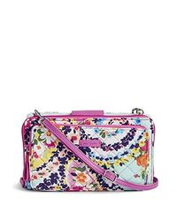Vera Bradley Multicolor Signature Cotton Deluxe All Together Crossbody Purse With Rfid Protection