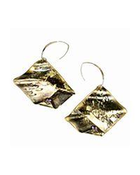 Sibilla G Jewelry - Metallic Sibilla G Oxidized Brass & Amethyst Earrings - Lyst