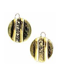 Sibilla G Jewelry - Metallic Sibilla G Oxidized Brass Circle Earrings - Lyst