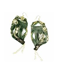 Sibilla G Jewelry | Green Sibilla G Leather Statement Earrings In Dark Teal | Lyst