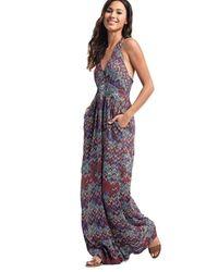 Ella Moss - Multicolor Kaliso Halter Dress In Seaport - Lyst